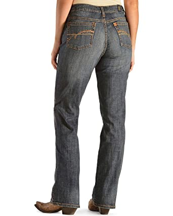 ed01b4d405 Amazon.com  Wrangler Women s Aura Instantly Slimming Jean  Clothing