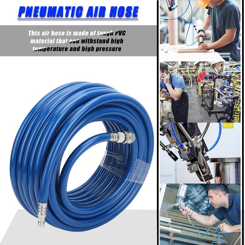 850 PSI Manguera de Aire con Conector de Europa de 1//4 Manguera de 3 Capas Neum/ática de PVC 15M Manguera Neum/ática para Aire Comprimido