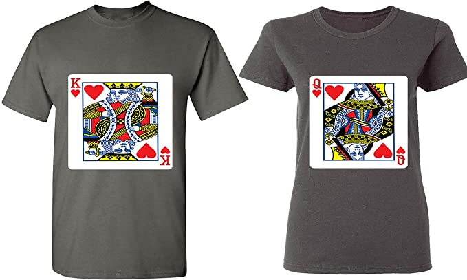 efc513f13 Amazon.com: King & Queen of Hearts - Playing Cards - Matching Couple ...