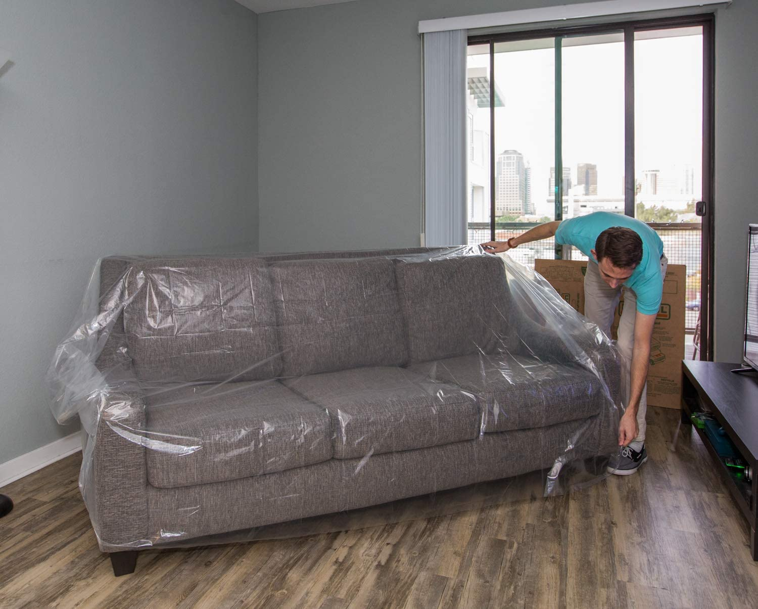 HZC03 160x160CM Dustproof Furniture Sofa//Couch Cover for Moving Protection and Long Term Storage