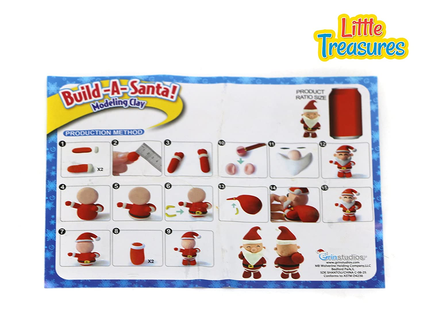 Fun Arts /& Craft Kid/'s Artist Toy Project Clay Modeling and Sculpting DIY Play-Set Little Treasures Cute Christmas Molding Play-Dough kit Create Your 3D Owen Reindeer