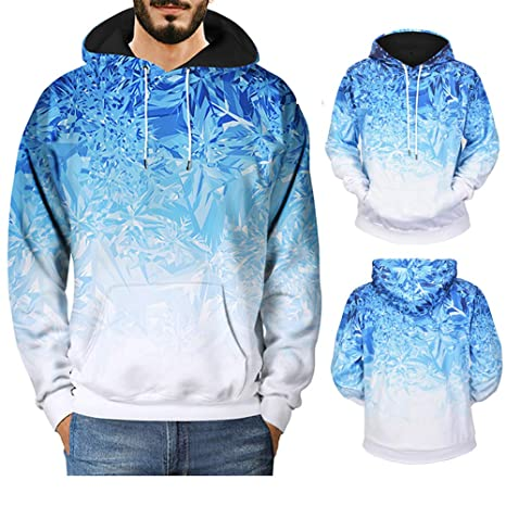 Hombre sudadera hoodie casual invierno otoño,Sonnena sudadera con capucha manga larga guapa hombre Flor