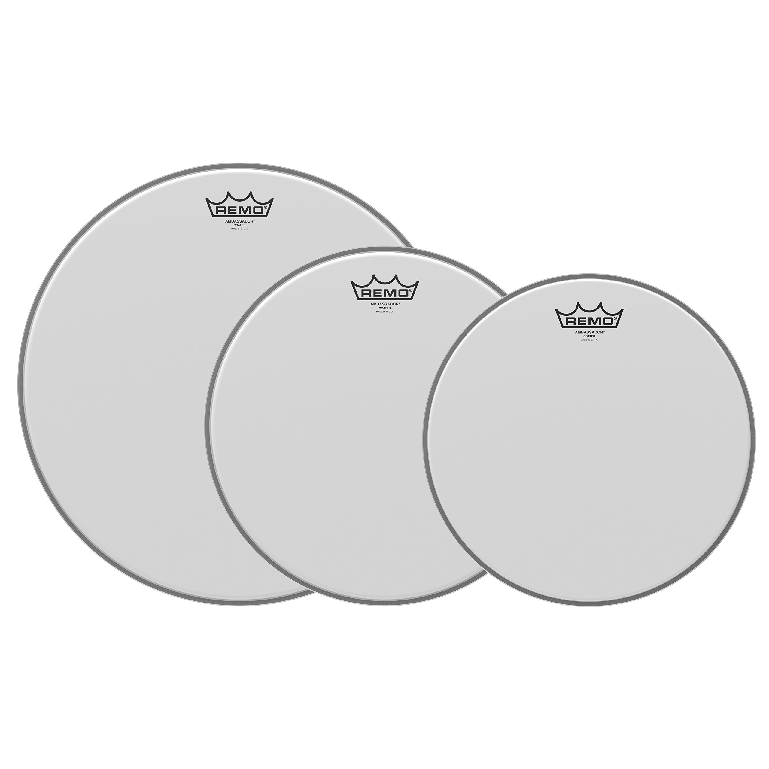 Remo PP-0930-BA Ambassador Coated Tom Drumhead Pack - 12'', 13'' & 16''