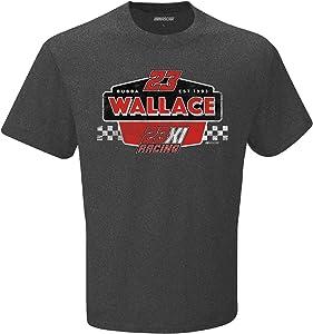Checkered Flag Sports Mens NASCAR 1-Spot Vintage Dual-Blend T-Shirt-Charcoal Heather