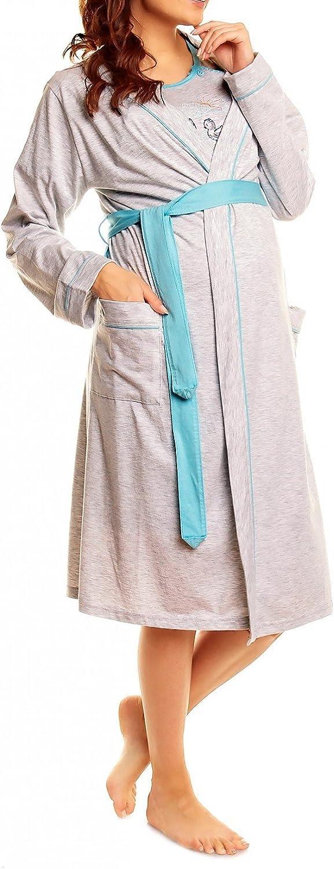 Happy Mama Donna pr/émaman Camicia da Notte Vestaglia Set Allattamento 385p