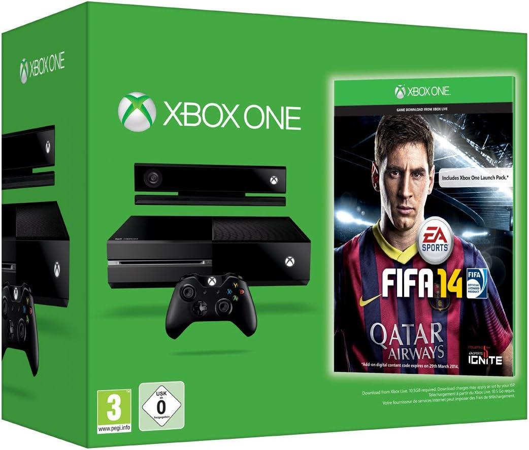 Microsoft Xbox One + FIFA 14 - juegos de PC (Xbox One, 8192 MB, DDR3, Blu-Ray, 500 GB, Negro): Amazon.es: Videojuegos