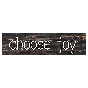 P. Graham Dunn Choose Joy Typewriter Design Distressed 6 x 1.5 Mini Pine Wood Tabletop Sign Plaque