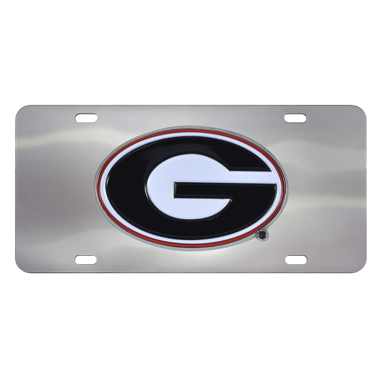 FANMATS NCAA Georgia Bulldogs Die Cast License Platedie Cast License Plate 6X12 Chrome