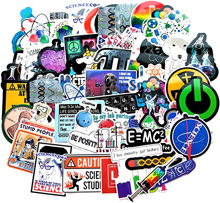 Funny Science Laboratory Stickers for Student Laptop Chemistry Lab Stickers Car Motorcycle Bicycle Luggage Helmet Graffiti Patches Skateboard Stickers (Science Laboratory)