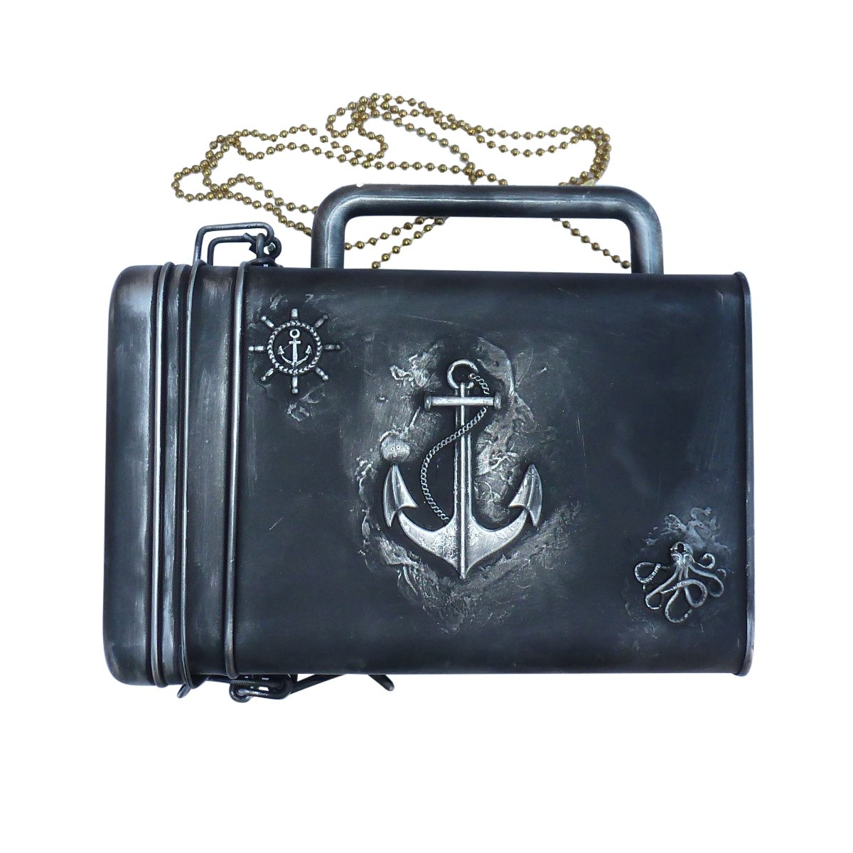 SteAMPunk travel Nautical Steampunk purse BOX handmade by OldJunkyardBoutique (Image #2)