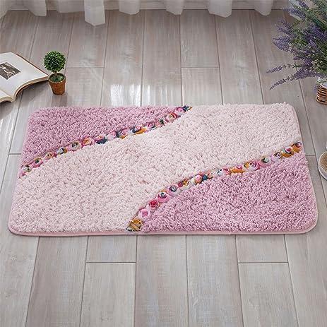 Amazon.com: Rose Bath Rugs, Microfiber Non-Slip Decorative Shower ...