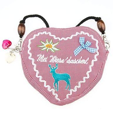 Trachtentasche Dirndltasche Oktoberfest Wiesn Edelweiß Herz Baumwolle Handtasche