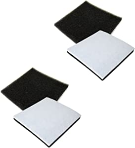 HQRP 4-Pack Foam Filter Compatible with Kenmore 116.21714/21714, 116.21514/21514, 116.21614/21614, 116.23613/23613 Canister Vacuum Coaster