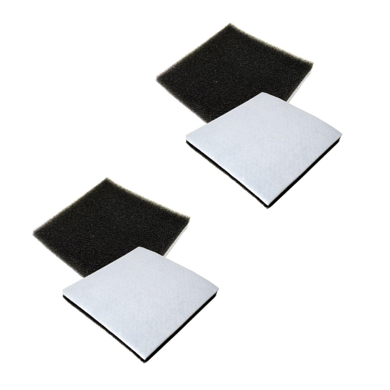 HQRP 4 - Pack Foam Filter for Kenmore 116.25615500、116.25812500、116.26212、116.26312601、116.29712990、116.59812991、116.2871279、116.28712790 + HQRPコースター   B019T9W7J4