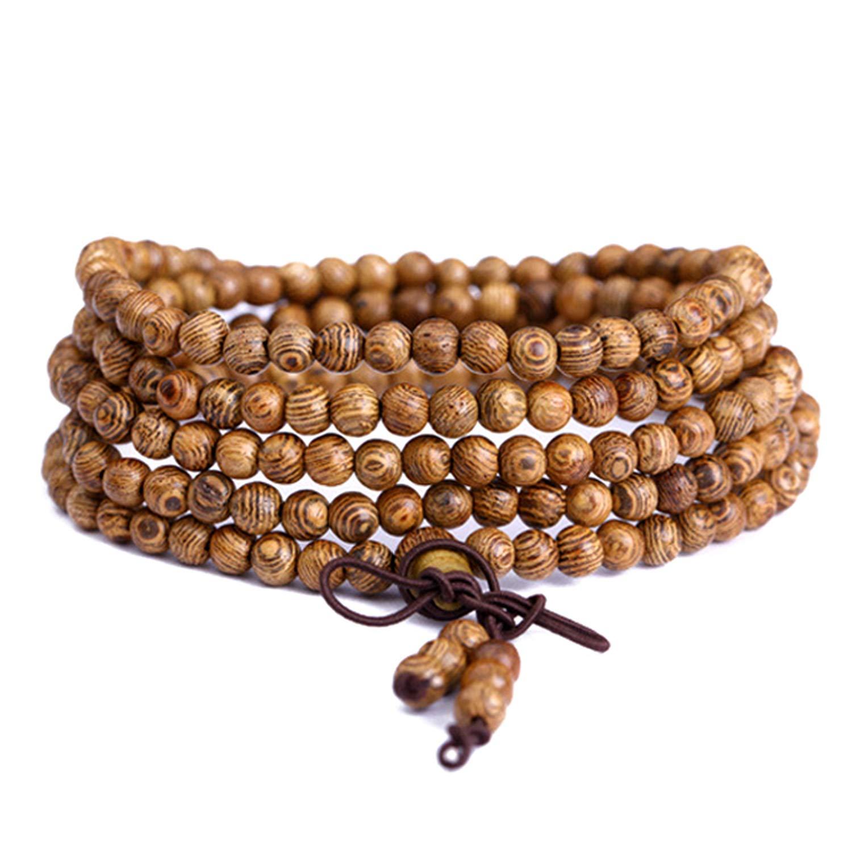 Amazon.com: HOUBL Prayer Bracelet 108 Wooden Beads Latest ...