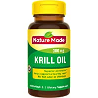 Nature Made Krill Oil 300 mg Softgels, 60 Count for Heart Health† (Packaging May Vary)