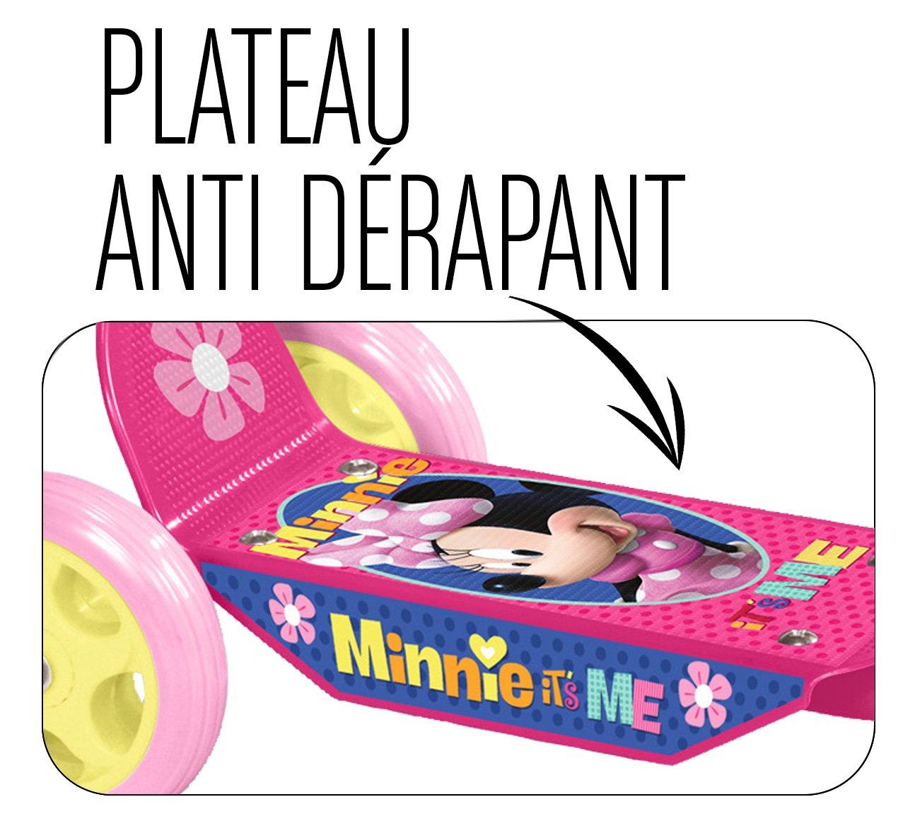 Stamp- Minnie 3R Patinete con 3 Ruedas, Color Rosa, 2 (J100083)