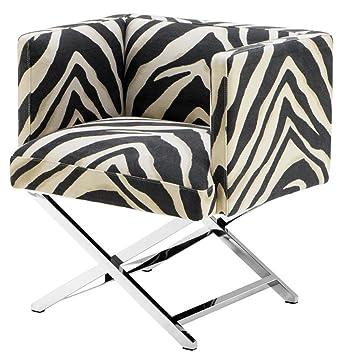 Casa-Padrino sillón de Club de Lujo en el diseño Cebra 68 x ...