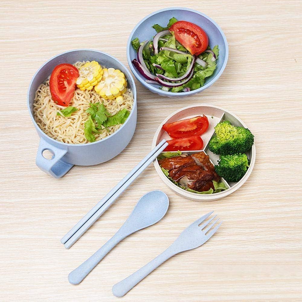 Portable Outdoor Japanese Ramen Noodle Soup Bowl for Udon Soba Pho Asian Noodles 6-Piece Set Shell Shape Ramen Bowl Chopsticks
