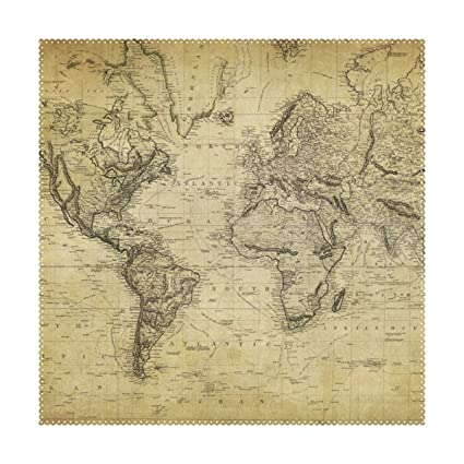 graphic relating to Vintage World Map Printable identify : imobaby Classic Earth Map Print Desk Mat 12\