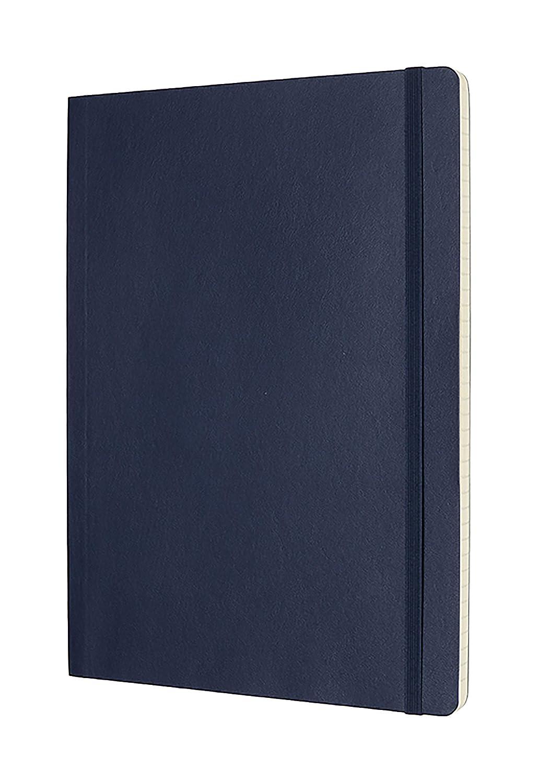 Tama/ño Grande 13 x 21 cm 192 P/áginas Tapa Blanda y Goma El/ástica Color Azul Arrecife Moleskine Cuaderno Cl/ásico con P/áginas Lisas