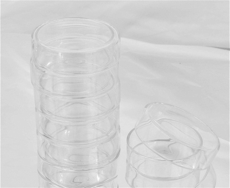 5 Glass Petri Dish 75mm, Tissue Culture Plate, Autoclavable Borosilicate Glass, Pack of 5