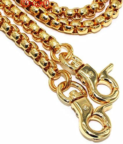 Bronze WEICHUAN 47 DIY Iron Flat Chain Strap Handbag Chains Accessories Purse Straps Shoulder Cross Body Replacement Straps with Metal Buckles