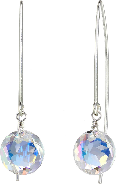 Beydodo Womens Gold Plated Earrings Stud White Cubic Ziconia Beydodo Jewelry