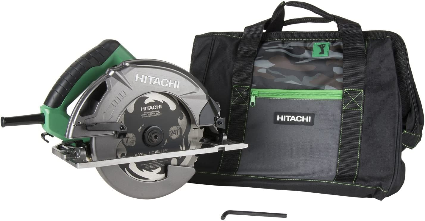 Hitachi C7SB3 15 Amp 7-1 4 Circular Saw 0-55 Bevel Capacity, Blower Function, Aluminum Die Cast Base