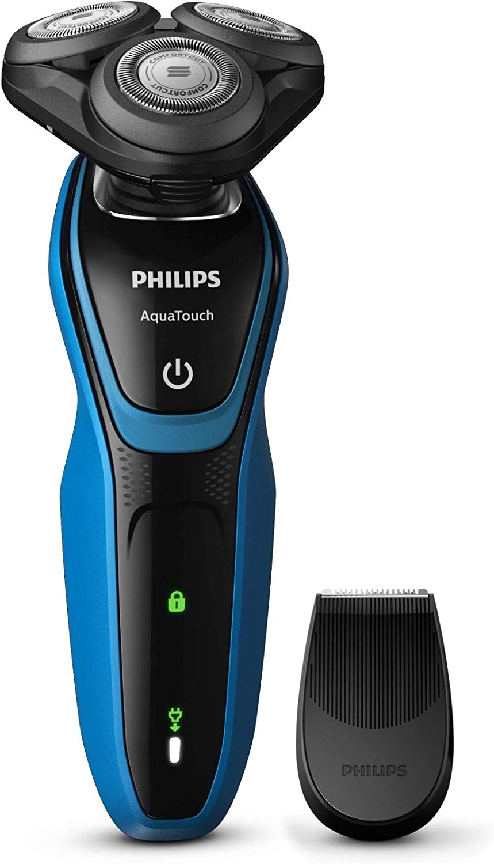 Philips S5050/04 - Philips S5050/04 - Philips aquatouch S5050/04 afeitadora máquina de afeitar de rotación recortadora negro, azul