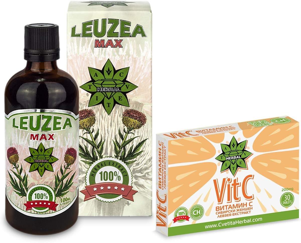 Cvetita Herbal, Leuzea carthamoides 100ml + Vitamina C 30 ...