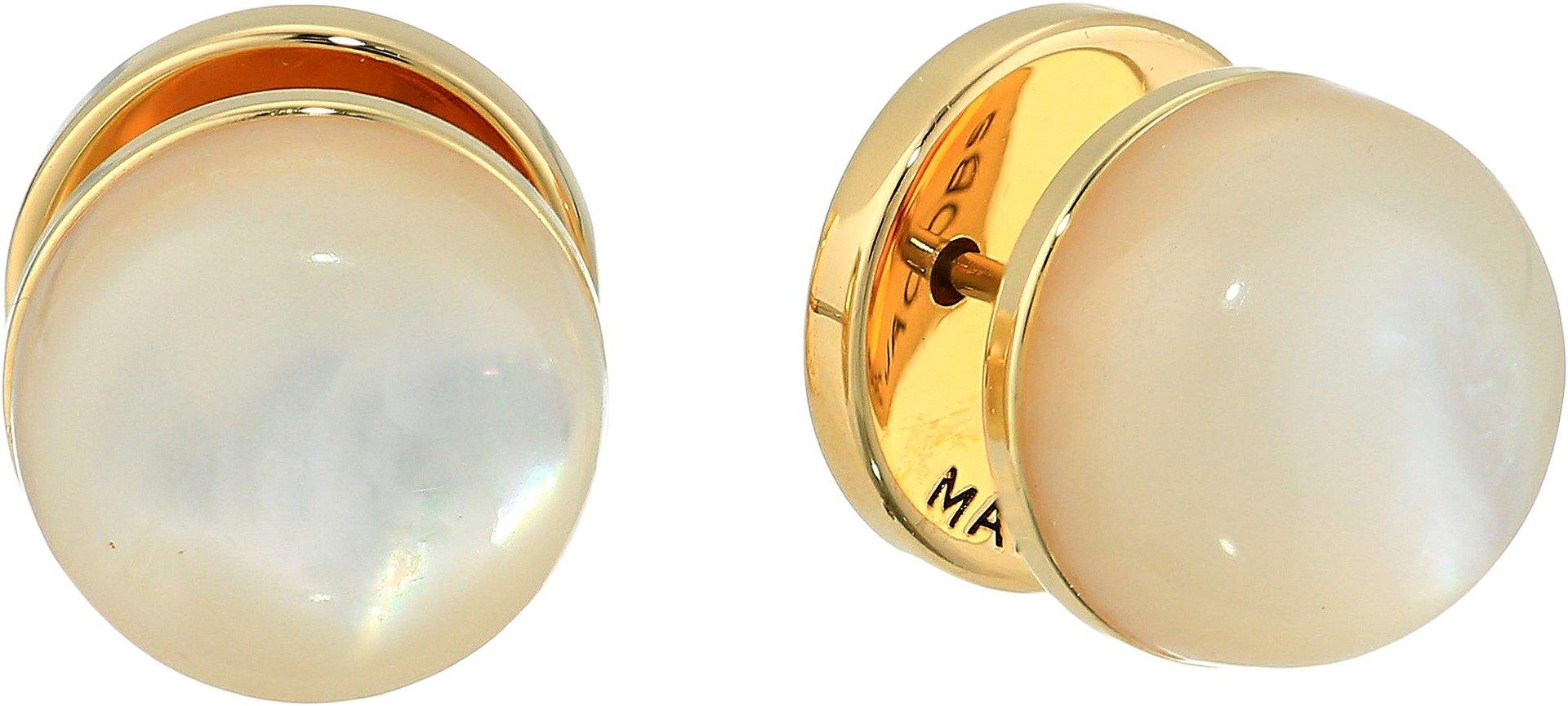 Marc Jacobs Women's Medallion Studs Earrings Gold One Size