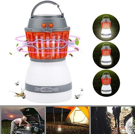 Camping Lantern IP67 wasserdicht tragbar M/ückenvernichter Zeltlampe USB Wiederaufladbar f/ür Innen und Au/ßen Bawoo Campinglampe UV Licht Insektenvernichter M/ückenkiller