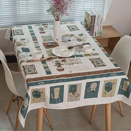 Copri Tavolo Da Cucina.Famiglia Tovaglie Moderno Semplice Stile Lino Copritavolo Applicare
