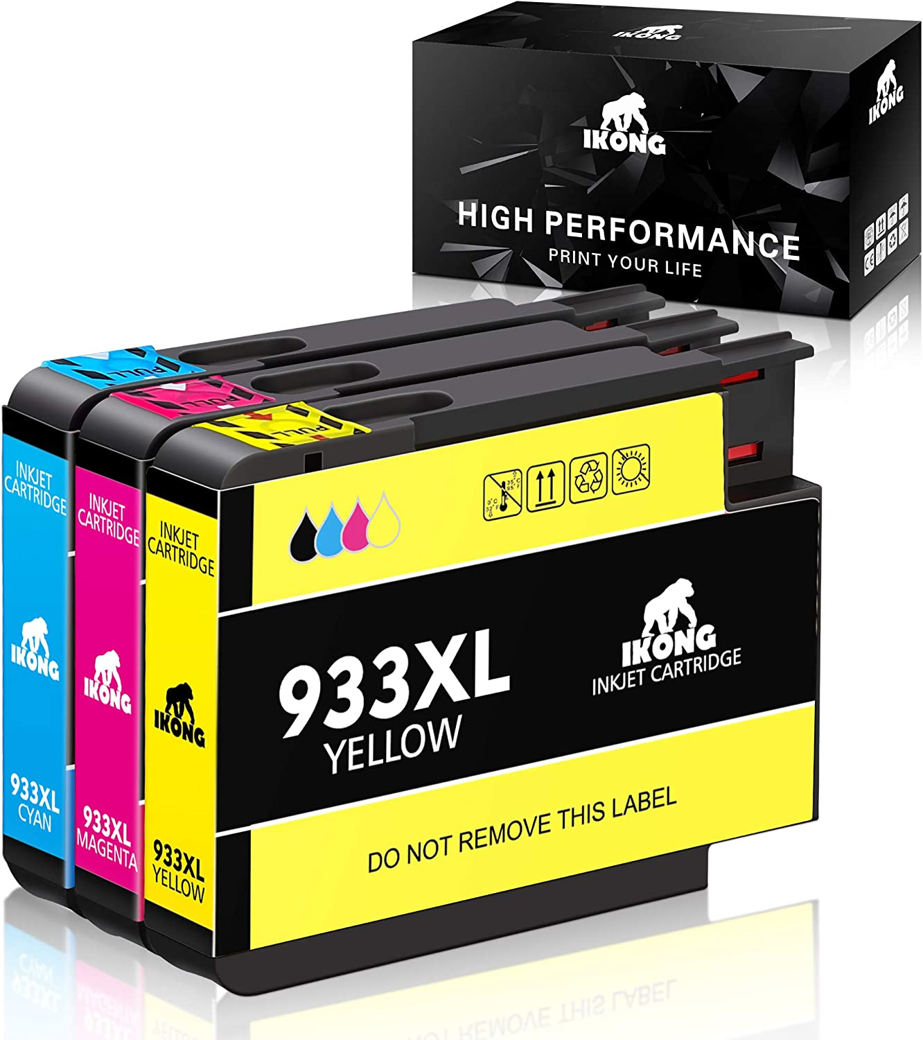 IKONG Compatible Ink Cartridge Replacement for 933 933xl Works with HP Officejet 6700 Officejet 6600 Officejet 7610 Officejet 6100 Officejet 7110 Officejet 7612 Printer