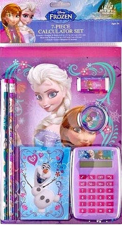 Disney Frozen Calculator Set 7 Pieces Gift Collectible New