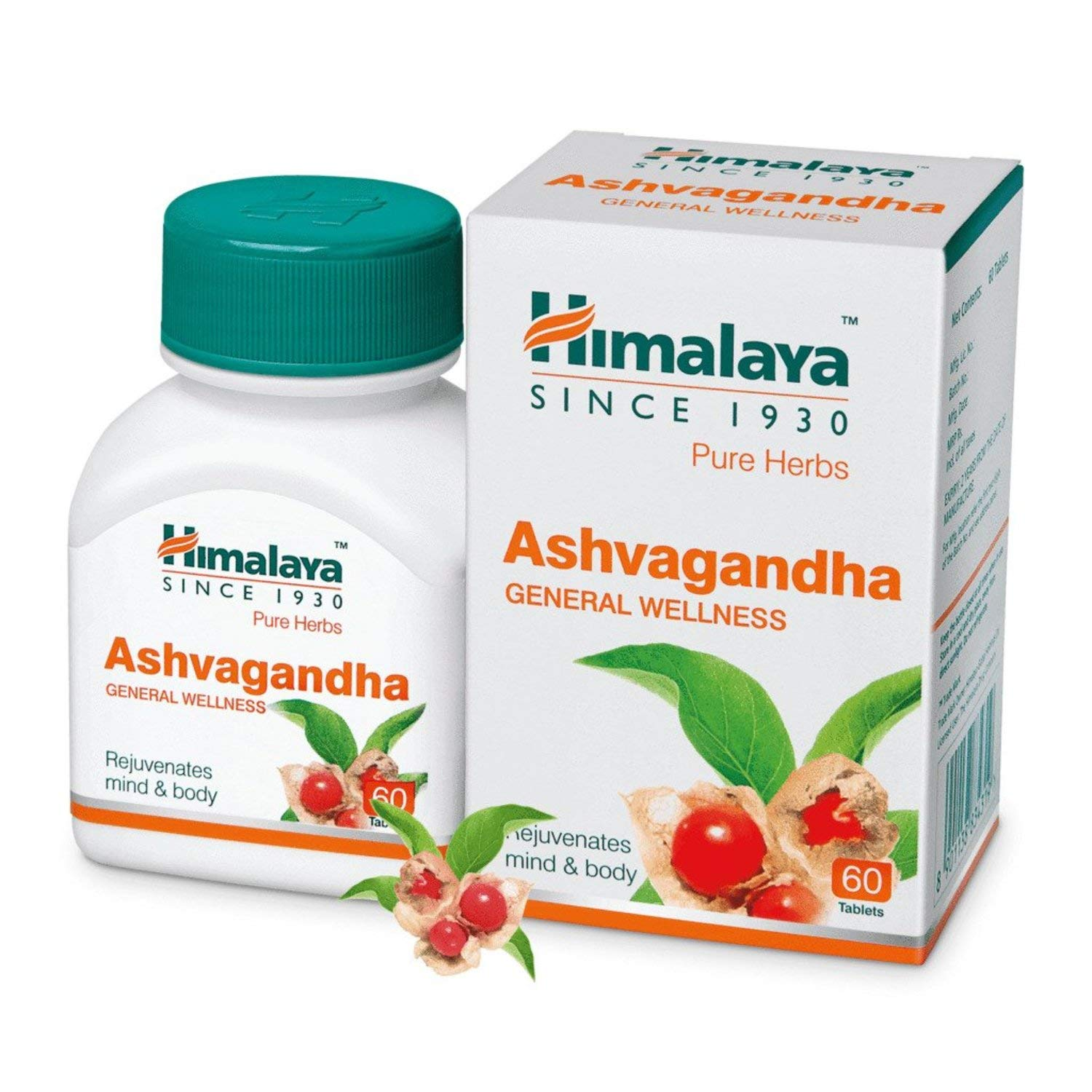 Buy Himalaya Wellness Pure Herbs Ashvagandha General Wellness - 60 ...