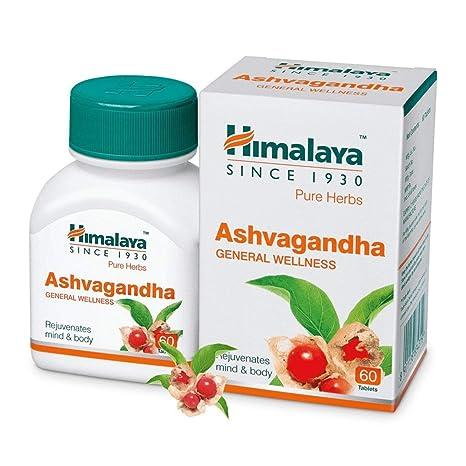 Buy Himalaya Ashwagandha Pure Herbs General Wellness Tablets - 60