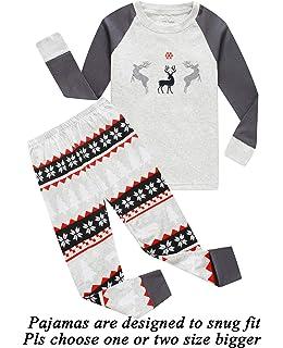 Boys Girls Christmas Pajamas Reindeer Cotton Toddler Clothes Kids Pjs  Children Sleepwear c842072a1