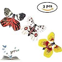 3 Mariposas voladoras de papel - colores variados