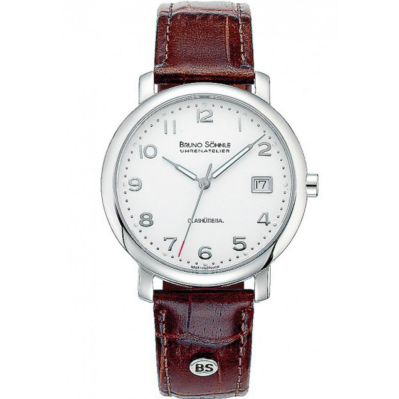 Bruno SÖhnle Herren-Armbanduhr Momento Analog Quarz Leder 17-13016-223