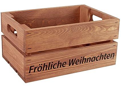 """'Kleine Caja de madera con mensaje """"Feliz Navidad"""" – stiege –"""