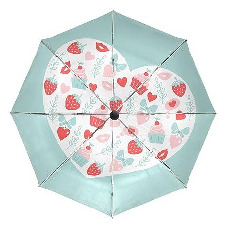 aeb2358f7fcb Amazon.com : baihuishop Heart Gift Butterfly Strawberry Windproof ...