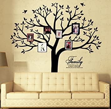 Amazon.com : Large Family Photo Tree Wall Decor Wall Decals Tree ...