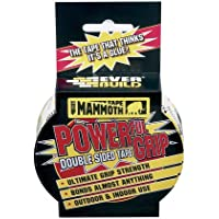 Mammoth Powerful Grip Tape - Re-enforced double-sided tape - 12mm x 2.5m - Clear