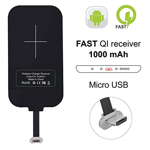 Nillkin Wireless Charger Receiver, Magic Tag Qi Wireless Charger Charging Receiver Patch Module Chip for Samsung Galaxy J7/J3/J6/S5, LG V10 and Other ...