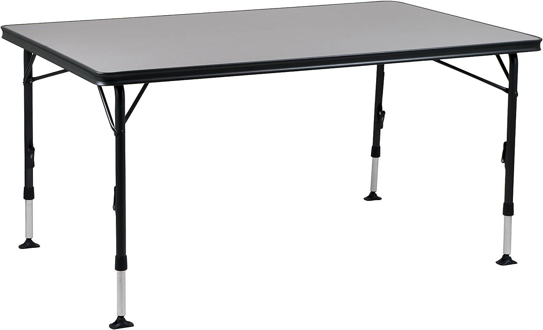 Crespo tafel aluminium zwart