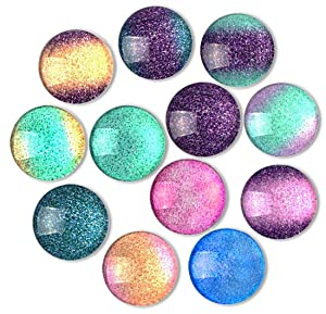 Cosylove 12pcs Colorful Refrigerator Magnets, Crystal Glass Fridge Magnets for Office Cabinets, Whiteboards, Photos, Beautiful Decorative Magnets, Decorate Home
