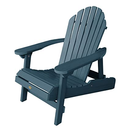 Highwood Hamilton Folding And Reclining Adirondack Chair, Adult Size,  Nantucket Blue
