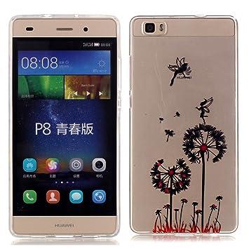 DETUOSI Huawei P8 Lite Funda Carcasa,TPU Funda de Silicona de Gel Carcasa para el Huawei ALE-L21/Huawei P8 Lite